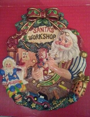 Fitz and Floyd  CLASSICS Santa Claus Canape Plate - NEW in Box-FREE SHIPPING