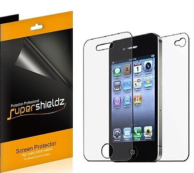 6x Supershieldz Front + Back Full Body Screen Protector for Apple iPhone 4 / 4S