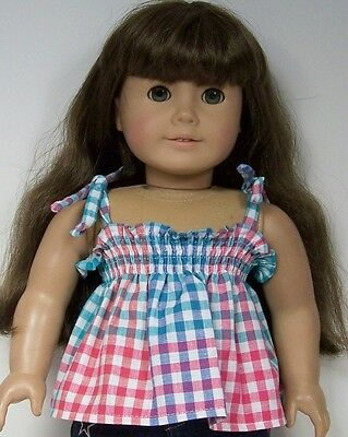 Debs 2pc RED Plaid Wool Skirt BLACK Shirt-Top Doll Clothes For 18 American Girl