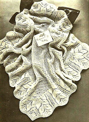 Vintage knitting pattern-how to make this lace baby heirloom christening shawl