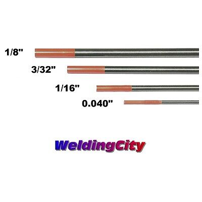 "4-pk TIG Welding Tungsten Electrode 2% Thoriated (Red) .040""-1/8"" US Seller Fast"
