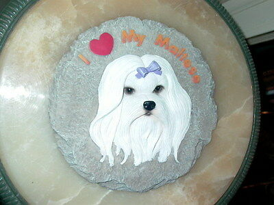 I Love My Maltese Dog Wall Plaque
