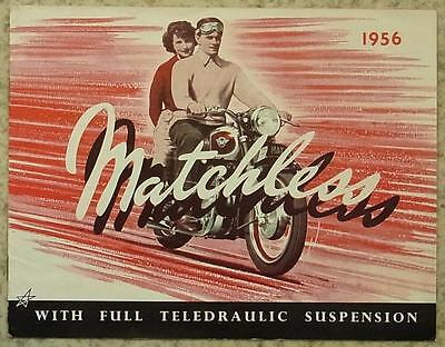MATCHLESS MOTORCYCLES Sales Brochure 1956 G3/6C G9 G11 G3/LS G80S G45 Racer