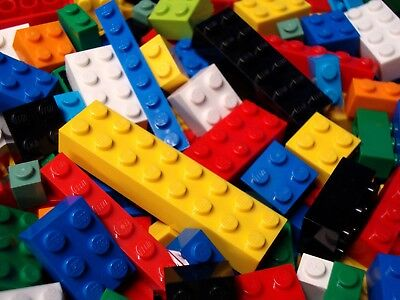 Lego All Bricks Lot 100 Bulk Pieces ONLY BRICKS BLOCKS 1x2 2x2 2x4 2x3 Stud Size