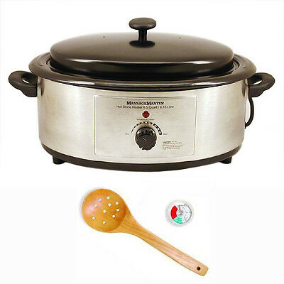 HOT STONE MASSAGE HEATER: 6.5 Quart .. Stainless Steel