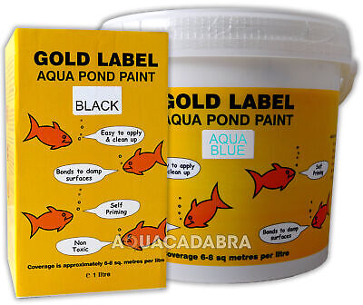 Gold Label Pond Paint Sealer 1L 2.5L 5 L Black Clear Aqua Blue Safe Fish Koi