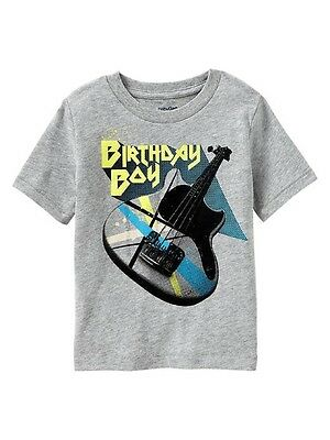 Boys BABY GAP Birthday Boy Guitar T SHIRT TOP Sz 3T NWT