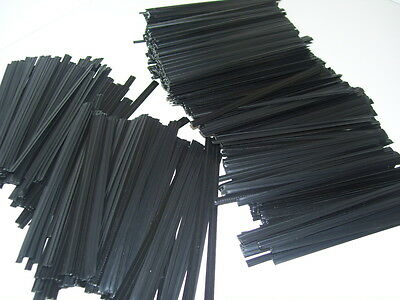 "100 Plastic Twist Ties Black 8"" Inches - General Use."