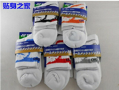 Free shipping 5pcs Pair YY Badminton/Tennis Men's sport Thick socks