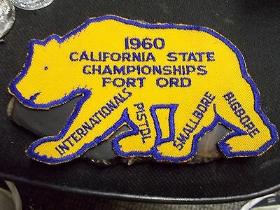 CRPA Patch Golden Bear 1960 Cali State Championships Fort Ord Army Base RARE