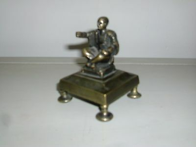 Antique 19th century English Regency Brass Desk Ornament Chinese Man Orientalist