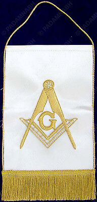 MASONIC MASTER MASON TABLE BANNER HAND EMBROIDERED (TB-001)