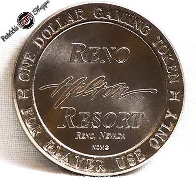 $1 Slot Token Coin Reno Hilton Hotel Casino 1992 Ncm Mint Reno Nevada Gaming New