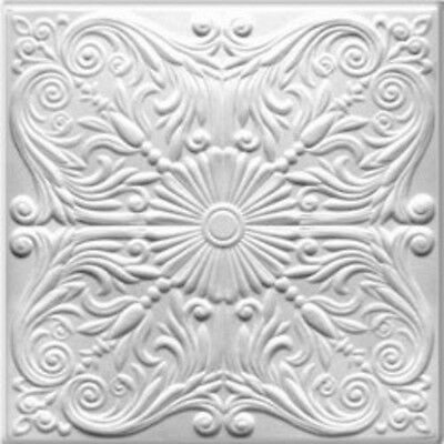 Ceiling Tile Decorative Styrofoam Easy DIY Install Covers Popcorn Ceiling #R-76