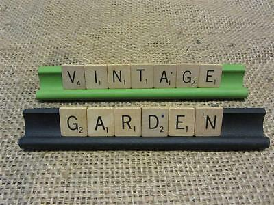 Scrabble Game Pieces VINTAGE GARDEN For Decor Antique Vintage Display Old 8330