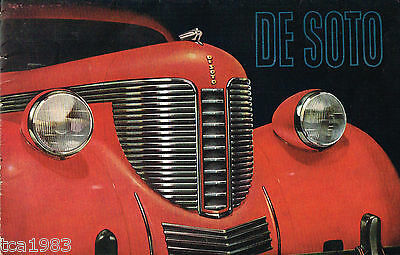 1938 DeSOTO Brochure / Poster: SEDAN,COUPE,TOURING,CONVERTIBLE,De Soto