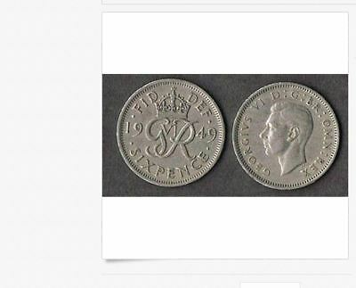 SET OF 5 COINS FROM 1947to1951 George VI British Wedding Sixpence BLOWOUT PRICE