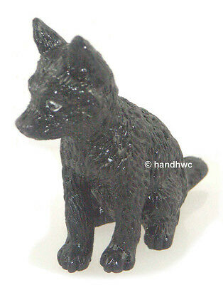 FREE SHIPPING | AAA 96969 Black Wolf Pup Wild Animal Figurine - New in Package