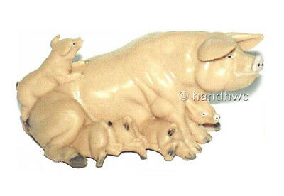 FREE SHIPPING | AAA 97243 Sow Pig with Piglets Model Figurine - New in Package