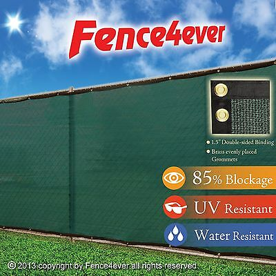 Green 6ft x 12ft 6'x12' Fence Screen Windscreen Privacy Cover Mesh Fabric Dog