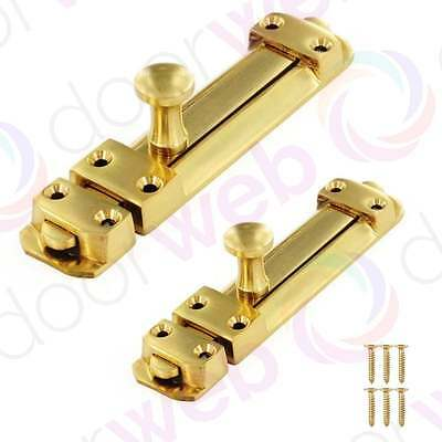 BRASS DOOR BOLT Security HEAVY DUTY SLIDE Solid Strong 100mm 150mm