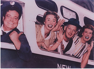 The Honeymooners Jackie Gleason Art Carney Great Color Photo