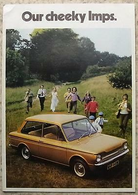 HILLMAN IMP De Luxe SUPER Estate SUNBEAM SPORT Sales Brochure 1972 #C150/H/1/50