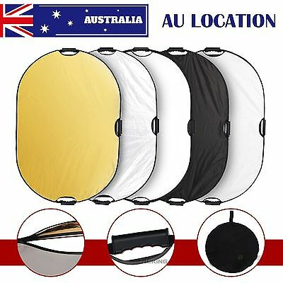 "Selens 60X90cm / 24x36"" 5in1 Studio Multi Photo Collapsible Light Oval Reflector"