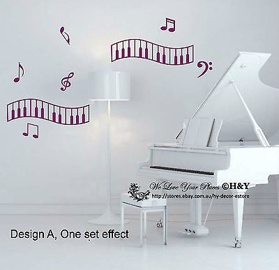 Music Musical Notation Notes  Kid Removable Wall Art Stickers Vinyl Decal Decor