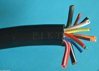 3 Metres Heavy Duty 12 Core Cable for 13 Pin Plugs & Sockets Caravans & Trailers