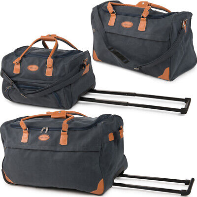 XXL Reisetasche Leder Look Trolley Sporttasche Trolly Tasche  Bag Reisetrolley