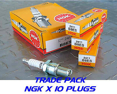 10x NEW GENUINE NGK Replacement SPARK PLUGS B8ES Stock No. 2411