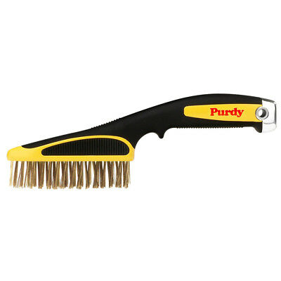"Purdy Wire Criss Cross Brush Short Handle with Easy Grip 11"" Paint Scraper"