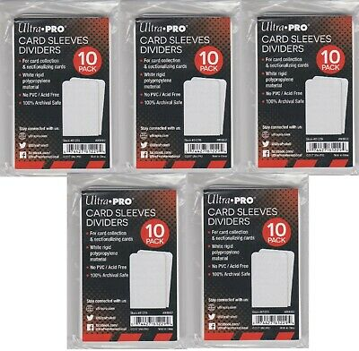 Lot of 50 Ultra Pro Card Sleeves Dividers Item # 81229 Deck Dividers