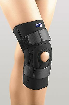Hinged Knee Stabilizing Brace Wrap Support Safe T Sport FLA Open Patella Pain