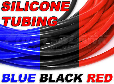 Silicon/Silicone Vacuum Hose Tubing for Air/Water/Coolant - Blue/Black/Red