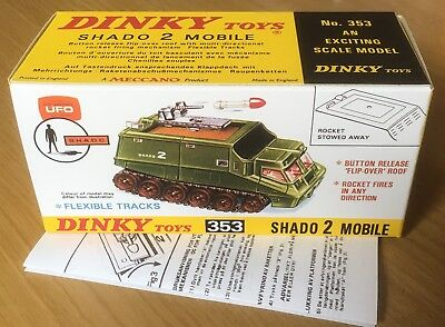 Dinky 353 Shado 2 Mobile Empty Repro Box & Instructions