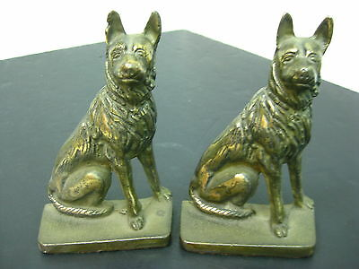 Pair of Cast Iron German Shepherd Doggy Bookends