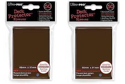 Ultra Pro Magic the Gathering 100 Deck Protectors Brown MTG