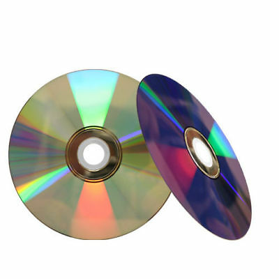 10 16X Shiny Silver Top Blank DVD-R DVDR Disc Media 4.7GB with Paper Sleeves