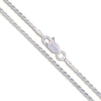 """22"""" Sterling Silver Necklace Shiny Italian Rope Chain Pure 925 Italy Wholesale"""