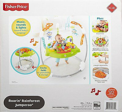 new fisher price rainforest jumperoo baby jumper bouncer activity