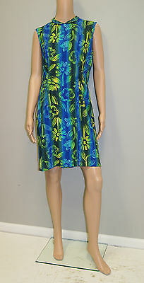 29ed51e141e39 Vintage 90 s Jams World Blue Green Resort Dress - Made in Hawaii Size 9  Medium