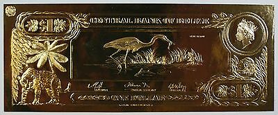 $1 Blue Heron- The First Gold Bank Notes of Belize w/ Presentation Card