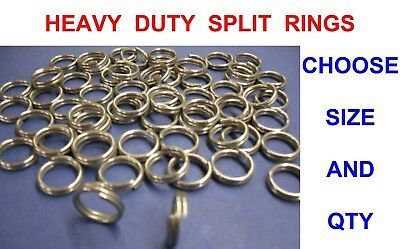 Titan Heavy Duty Split Rings For Sea Game Coarse Fishing Lures Pirks Spinners