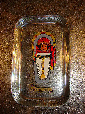 Vintage SOUVENIR OF BRAINERD MINNESOTA GLASS PAPERWEIGHT Indian Papoose