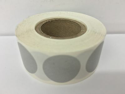 """1/2"""" GREY Circle Color Coded Coding Inventory Warehouse Labels 1000/Roll"""