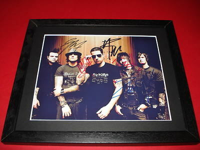 Avenged Sevenfold The Rev Signed Mounted & Framed 10X8 Repro Photo Print