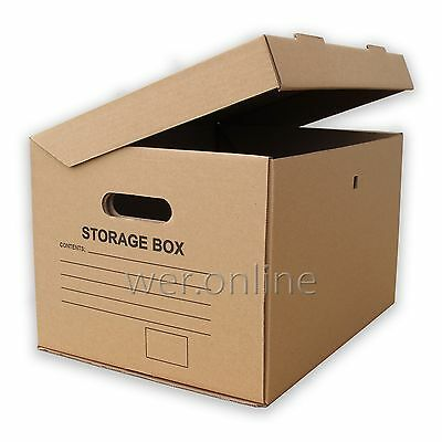 10 x A4 Filing Archive Cardboard Storage Boxes 15x12x9""