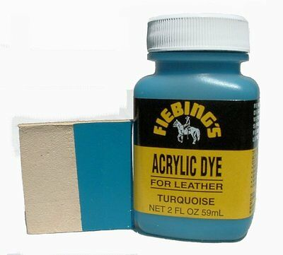 Fiebing's Acrylic Leather Dye Turquoise Paint 2 oz. (59mL) 2604-09 ACRD13P002Z